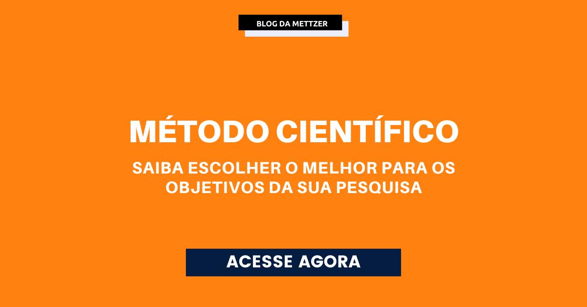 Capa - método científico