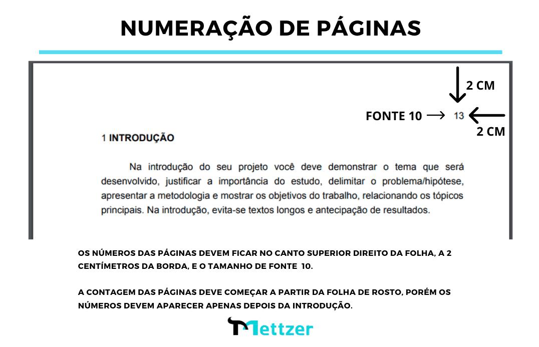 NUMERAÇÃO DE PÁGINAS ABNT