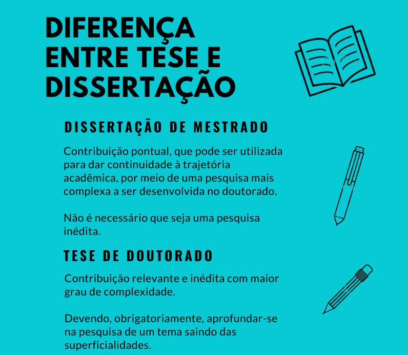 diferença entre tese e dissertação