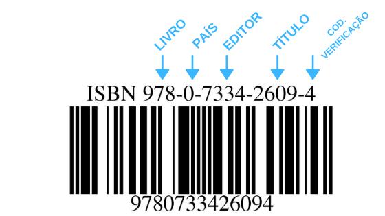 isbn - código de barras