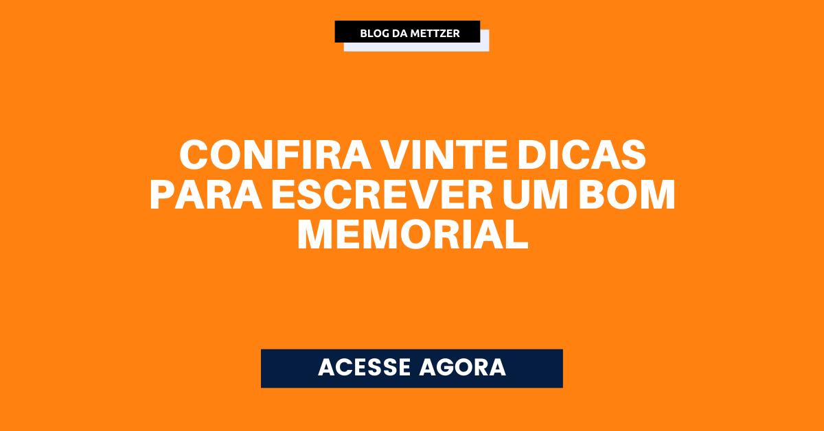 Capa - memorial