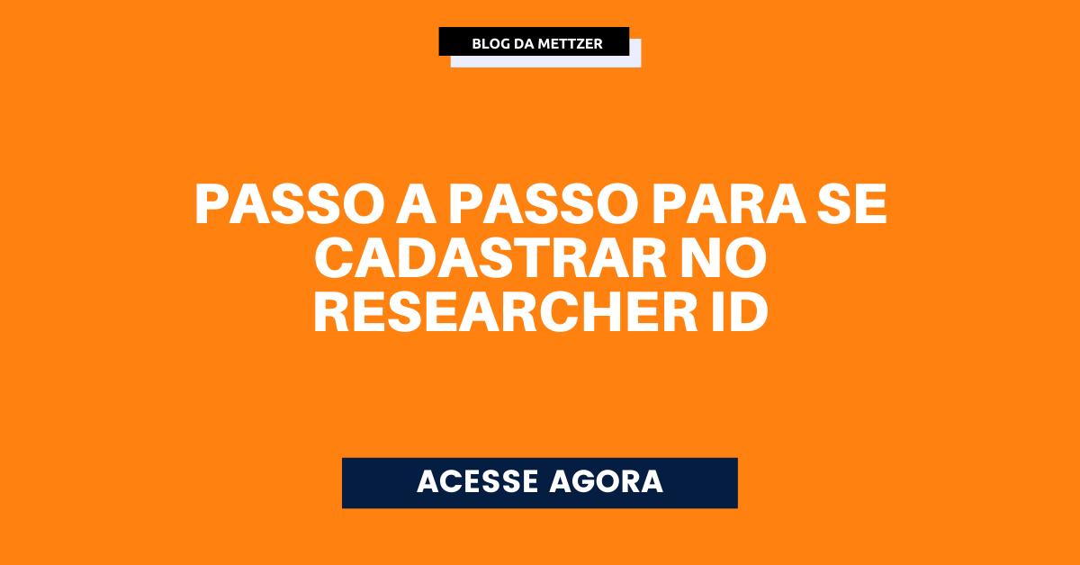 Capa - researcher ID