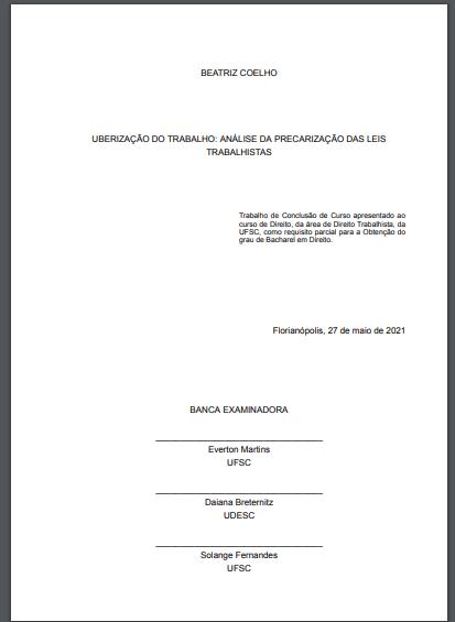Exemplo de folha de aprovação