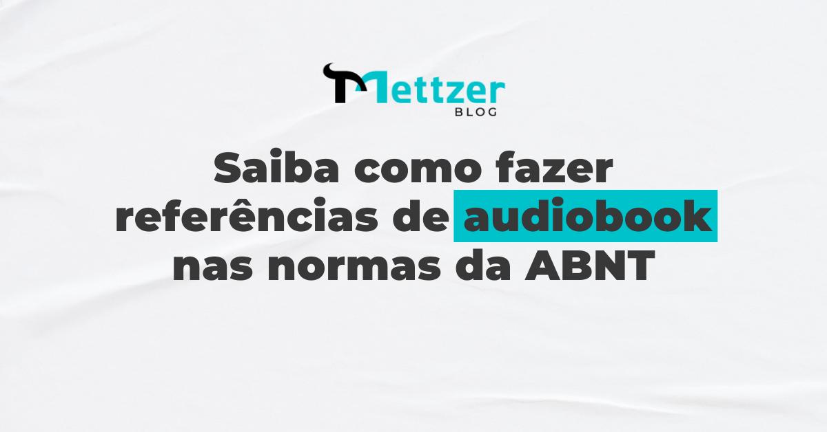 Capa - audiobook